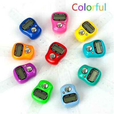 2X Digit Digital LCD Electronic Golf Finger Hand Ring Knitting Row Tally Counter