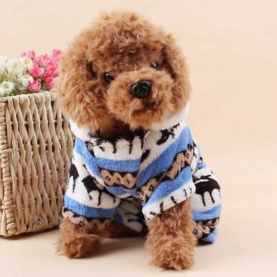 Pet Dogs Puppy Outfit T-Shirt Fancy Dress Hoody Jumper Clothes Xmas Gift Costume