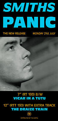 The Smiths Panic  Laminated Mini A4 Poster Rough Trade Morrisey