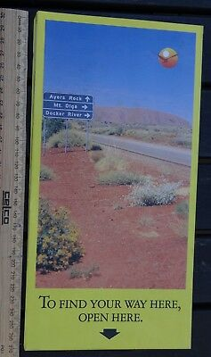1 x COLLECTABLE NORTHERN TERRITORY AUSTRALIA TRAVEL MAP