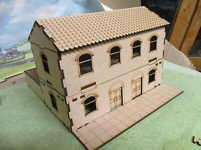 28mm Semi Detach Terrace House front pavement and yard Laser cut scenery