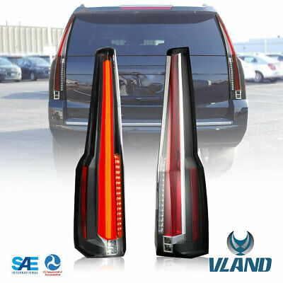 VLAND For 2015-2020 Chevy Suburban & Tahoe LED Tail Lights Lamp Escalade Style