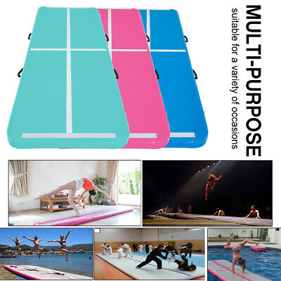 Air Track Inflatable Gymnastics Tumbling Mat Floor GYM Airtrack 6 Colors Fitness