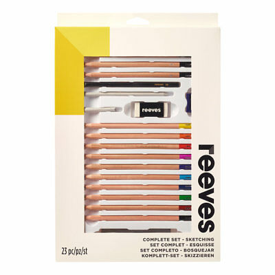 Reeves Complete Sketching Drawing & Colour Pencils & Accessories Art Gift Set