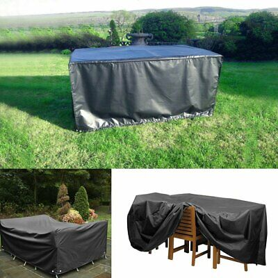 Patio Garden Outdoor Cube 270cm 2-8 Seater Furniture Table Cover Waterproof 210D