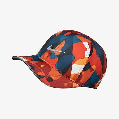 3c33206bc0669 New Nike Dry Featherlight Camouflage Adjustable Cap Hat - Red(AV5364-634)