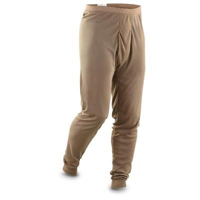 Genuine Us Army Brown Cold Weather Polypro Ecwcs Thermal Long Johns/drawers. Xl.