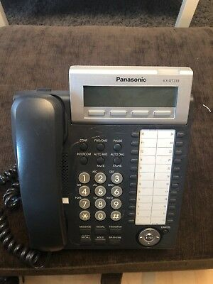 Panasonic Kx Dt333 Digital System Phone Black Pbx F0260e