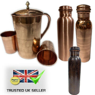 COPPER JUG COPPER GLASS COPPER BOTTLE Healthy Water Bottle Jug Glass
