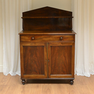 Stunning William IV Antique Figured Mahogany Chiffonier / Cupboard