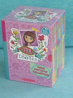 Ella Diaries Super Fantastic Collection Meredith Costain 12 Bks Journal New Seal