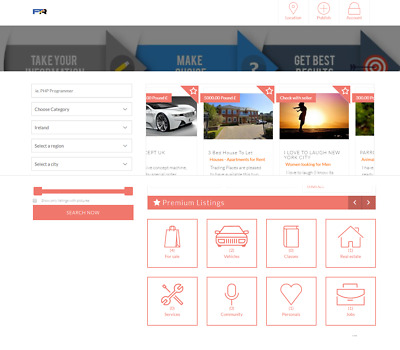 Classified Listings Website Online Business For Sale (Portal, Agent, Agency)