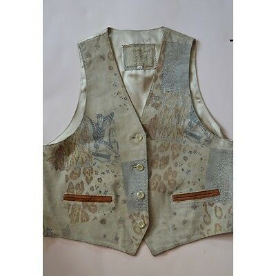GILET DONNA PELLE  IN STILE TIROLESE Tg.46