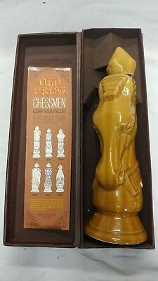 Vintage Limited Edition Old Crow Ceramic Chessman Decanter Light Knight