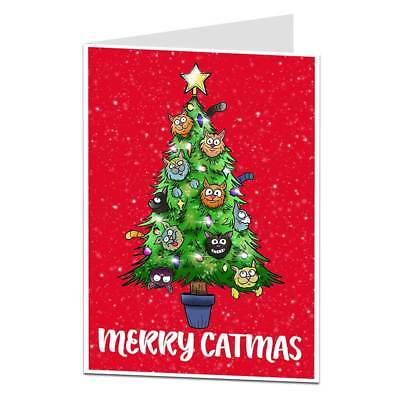 Funny Cat Christmas Card For The Owner Lover Crazy Lady Perfect For Mum Wife