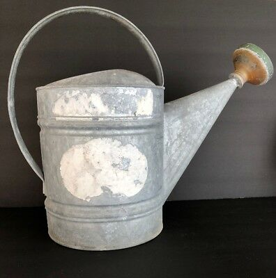 Vintage Non Leaking Galvanized Metal Watering Can Country Cottage Garden Decor