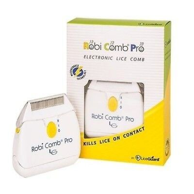 Robi Comb Pro Electrical Head Lice Nits Comb Safe Battery Operated Kills Lice