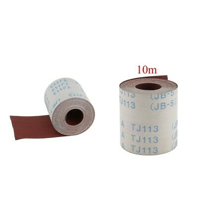 2 Pieces(320&600 Grits)10m Abrasive Cloth Emery Cloth Roll for Metal Glass