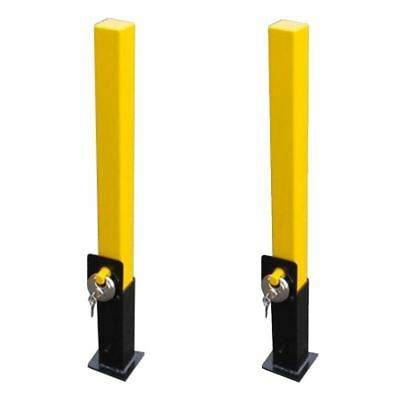 2X Maypole Removable Security Post Driveway Bollard Car Caravan  + Lock
