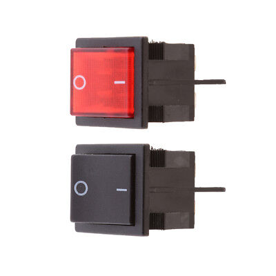 2pcs Button On-Off 4 Pin DPST Boat Rocker Switch For 16A 250V AC Voltage