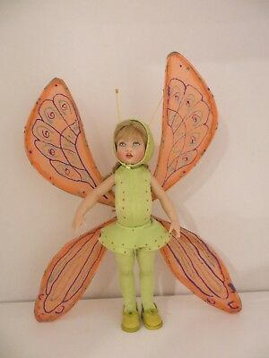 "UFDC Butterfly Riley Helen Kish 7 1/2"" vinyl doll NO Box displayed only"