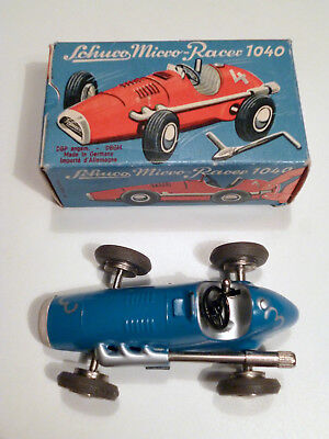Schuco Micro Racer 1040 blau US-Zone, Ferrari F1, OVP, Made in U.S.-Zone Germany