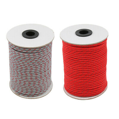 50m Reflective Cord Camping Hiking Tent Guyline Rope Outdoor General Use