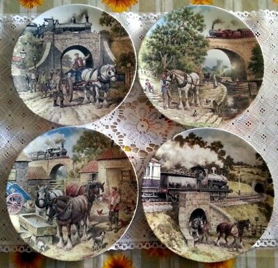Wedgwood Bradex Set n.4 Piatti in porcellana inglese serie Country Connections