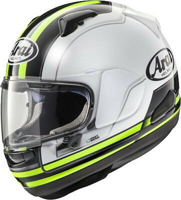 Arai Qv Stint Yellow Motorcycle Helmet - Small