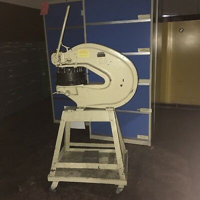 "Rotex 18-A 18"" Throat Hand Operated Turret Punch Press w/ Casters"