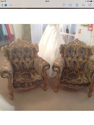 Pair Of French Style Antique Reproduction Arm Chairs
