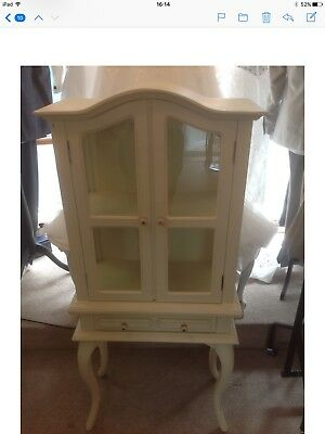 Small French Style Shabby Chic Cabriole Legged Cabinet