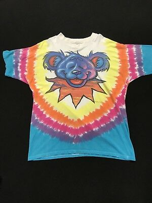 Grateful Dead Double Sided Dancing Bear 1999 Concert XXL Large T Shirt GDP