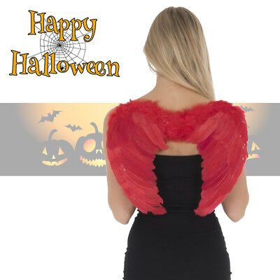 Red Feather Angel Wings Halloween Fancy Dress Costume Christmas Party Hen Night