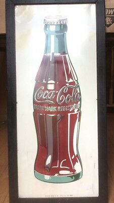 "1948 Vintage Original 14x32"" COCA COLA Tin advertising sign coke soda pop Framed"