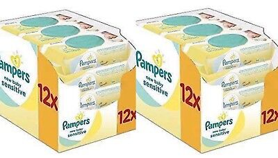 Pampers New Baby Sensitive Wet Wipes, Pack of 24 (24 x 50 pieces) 1200 wipes