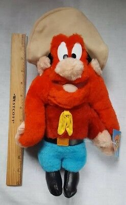 "YOSEMITE SAM 11"" Plush Warner Bros Looney Tunes Stuffed w/ tags ACE 1997"