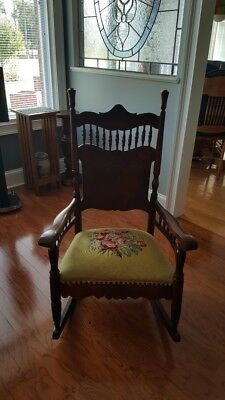 Solid Cherry Antique Rocking Chair Very Good To Excellent Condition
