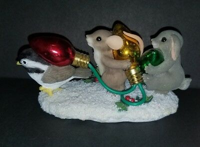 """Charming Tails By Fitz & Floyd """"parade Of Lights"""" Holidays 87/166 Excellent Cond"""