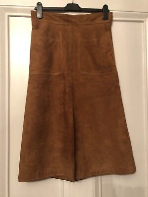 Suede Skirt 1970's Style