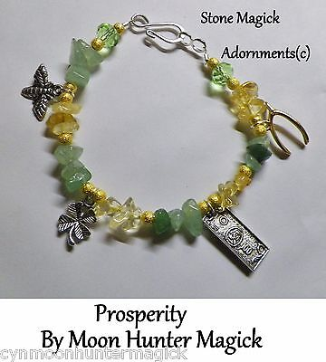 Prosperity Money Good Luck StoneMagick Bracelet Money Drawing Talisman Charm