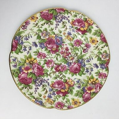 Vintage House of Claridge Collector's Edition Chintz Bread and Butter Plate