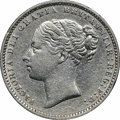 1881 UK Great Britain, 1 Shilling, XF 1S Extremely Fine