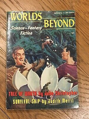 Worlds Beyond Science-Fantasy Fiction - January 1951 US SF John Christopher etc
