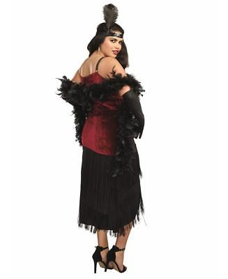 Dreamgirl Women's Luxe Plus-Size Million Dollar Baby Flapper Costume Dress..