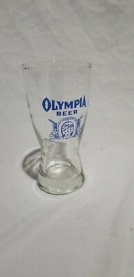 Vintage Beer Glass, Early 1970's Olympia 8oz Beer Glasses, NOS
