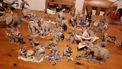 COLLECTION OF 23 x TUSKERS ELEPHANT ORNAMENTS, GOOD CONDITION, INC XMAS ONES