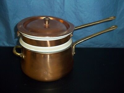 Solid Copper 1 Quart Double-Boiler, made in Portugal