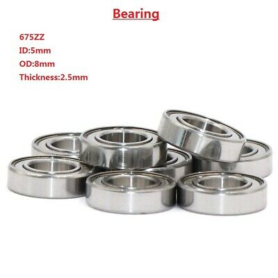 675-ZZ 5x8x2.5mm Deep Groove Ball Miniature Thin-Walled Double Shielded Bearing