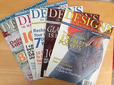 Machine Embroidery Textile Art Magazine Lot Of 2 Pre Owned